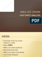 Cost Sheet Analysis