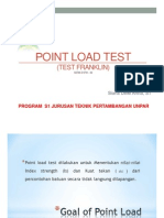 Point Load Test