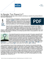 Is Google Too Powerful