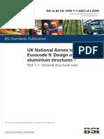 UK National Annex to Eurocode 9