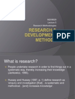 DRM Lecture 5 - Research Process
