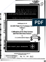 AGARD FLIGHT TEST TECHNIQUE SERIES VOLUME 1 Calibration of Air Data Systems and Flow Direction Senosrs