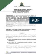 Reglamento de Vacaciones, Asuetos y Licencias Para Funcionarios y Empleados Del Poder Judicial