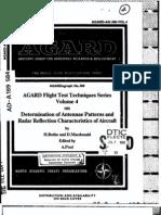 Agard Flight Test Technique Series Volume 4 Anttenae Patterns and Radar Reflection
