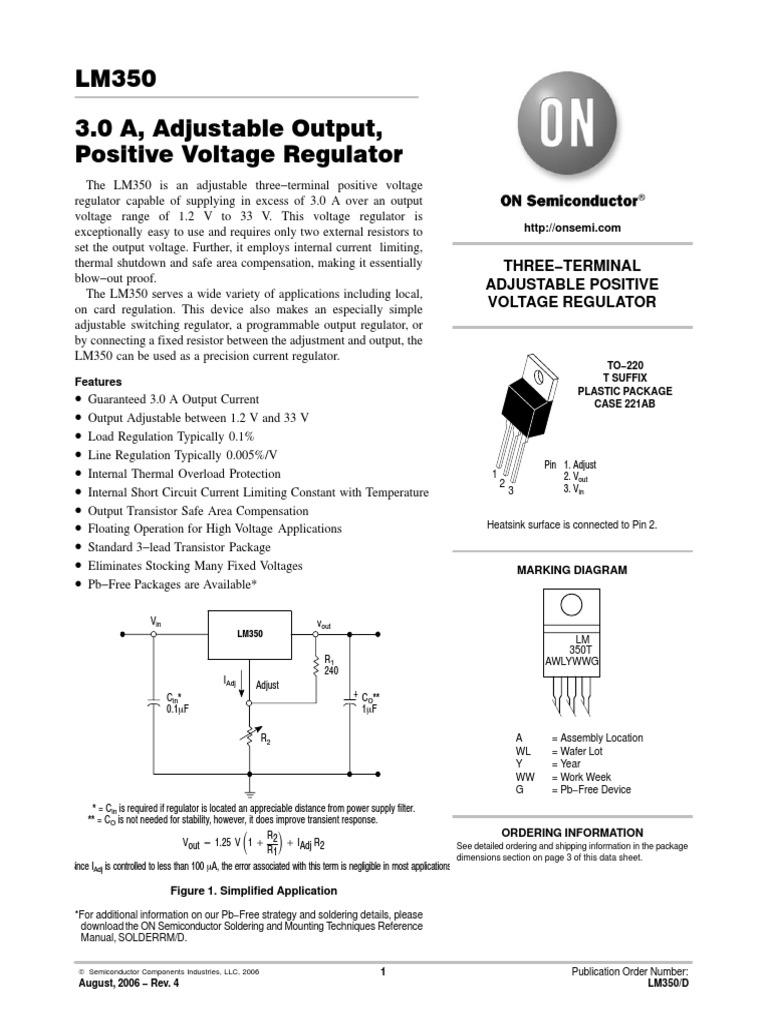 Lm350 D Capacitor Manufactured Goods Voltage Regulators Protector Circuit Diagram