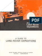 A Guide to Land-rover Expeditions