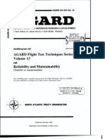 Agard Flight Test Technique Series Volume 13 Reliability and Maintain Ability