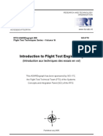 Agard Flight Test Technique Series Volume 14 Introduction to Flight Test Engineering