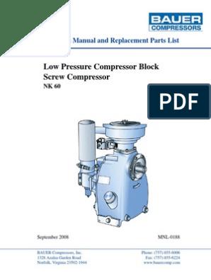 NK-60 Screw Compressor Rev 2008 | Valve | Belt (Mechanical)