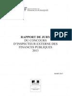 2013 06 Dgfip Insp Externe Rapport Jury2013