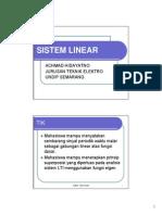 Kuliah 6 Sistem Linear