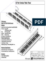 EFB - 37595SW.2 Patch Panel 50 Port Cat3