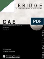 CAE - Speaking