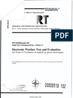 Agard Flight Test Technique Series Volume 17 Electronics Warfare Test