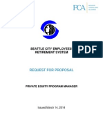 Seattle Retirement System Request for Proposal for Private Equity Consultant