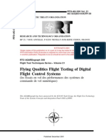 AGARD FLIGHT TEST TECHNIQUE SERIES VOLUME 21 Flying Qualities Flight Testing of Digital Flight Control Systems