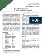 Pump Performance Measurement