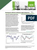 Swedish housing price indicator signals rising prices