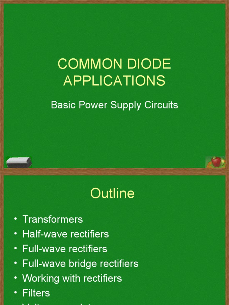 4 Common Diode Applications Rectifier Power Supply Fullwave Bridge Circuit