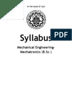 Mechatronics Eng BSc Syllabus