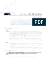 Dennis O'Donohue CV - 2014s