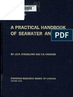 A Practical Handbook of Seawater Analysis