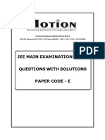 Jee Main 2014 Solution Code E English