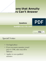 Questions that Annuity Sellers Can't Answer