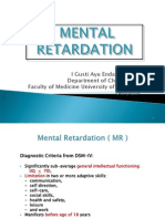 Lecture 21 Mental Retardation and Down Syndrom