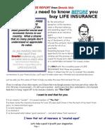 Life Insurance FREE REPORT-Dennis Volz-619-670-1000