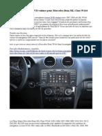 Installer Lecteur DVD Voiture Pour Mercedes Benz ML Class W164