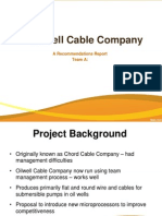 Oilwell Cable Company Presentation Group A