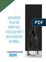 Andamio Plan de Montaje Utilizacion y Seguimiento en Obra