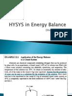 Hysys in Energy Balance