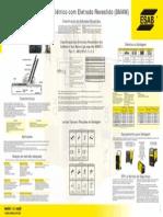 ESAB Cartaz Soldagem Manual Arco Eletrico Eletrodo Revestido SMAW Web