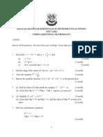 Add Maths Form 4 Ujian 2 2012