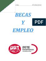 Boletín de becas y empleo. Semana del 7 de abril de 2014