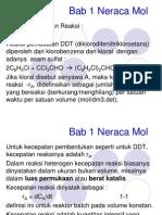 Bab 1 Reaktor Neraca Mol