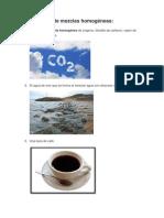NANCY-10 ejemplos de mezclas homogéneas