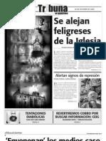 Tribuna de Querétaro 514. Se alejan feligreses de la Iglesia.