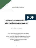 dr. habil. B. Nagy Sándor - Szervezetfejlesztés, változásmenedzsment jegyzet