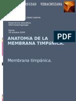 Anatomía de la membrana timpánica