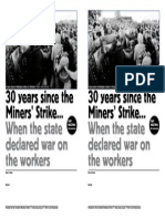 30 Years Since Miners Strike SWP A5