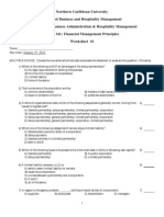 FNCE341 Assignment Worksheet 1