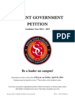 KSC Student Government Elections Petition