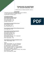 réunion et comptes rendus  Décembre 2013