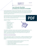 Green Schools Checklist