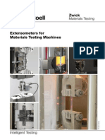 Extensometers for Materials Testing Machines