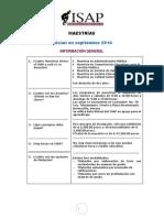 ISAP Maestrías que inician en Septiembre 2014