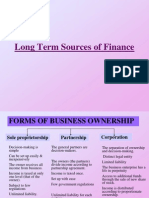 Chapter 6- Long Term Sources of Finance
